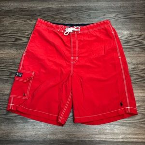 Polo Ralph Lauren Solid Red Swim Trunks XL